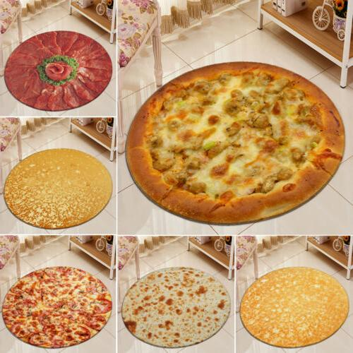 New Modern Creative Food Carpet Mat Pizza Tortilla Burrito <