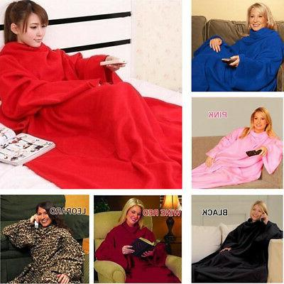 HOT Snuggie Sleeves Soft Throw -