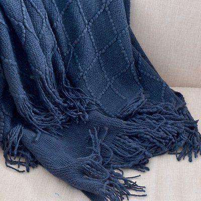 Battilo Knit Decorative W Navy