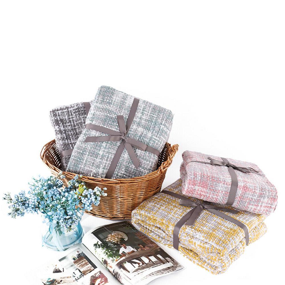 Battilo Knit Soft Warm Blanket Sofa