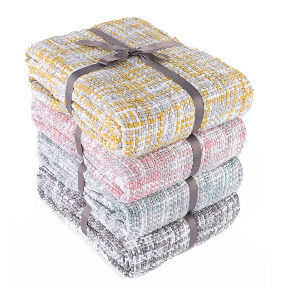 knit throw ultra soft warm sleeping cover