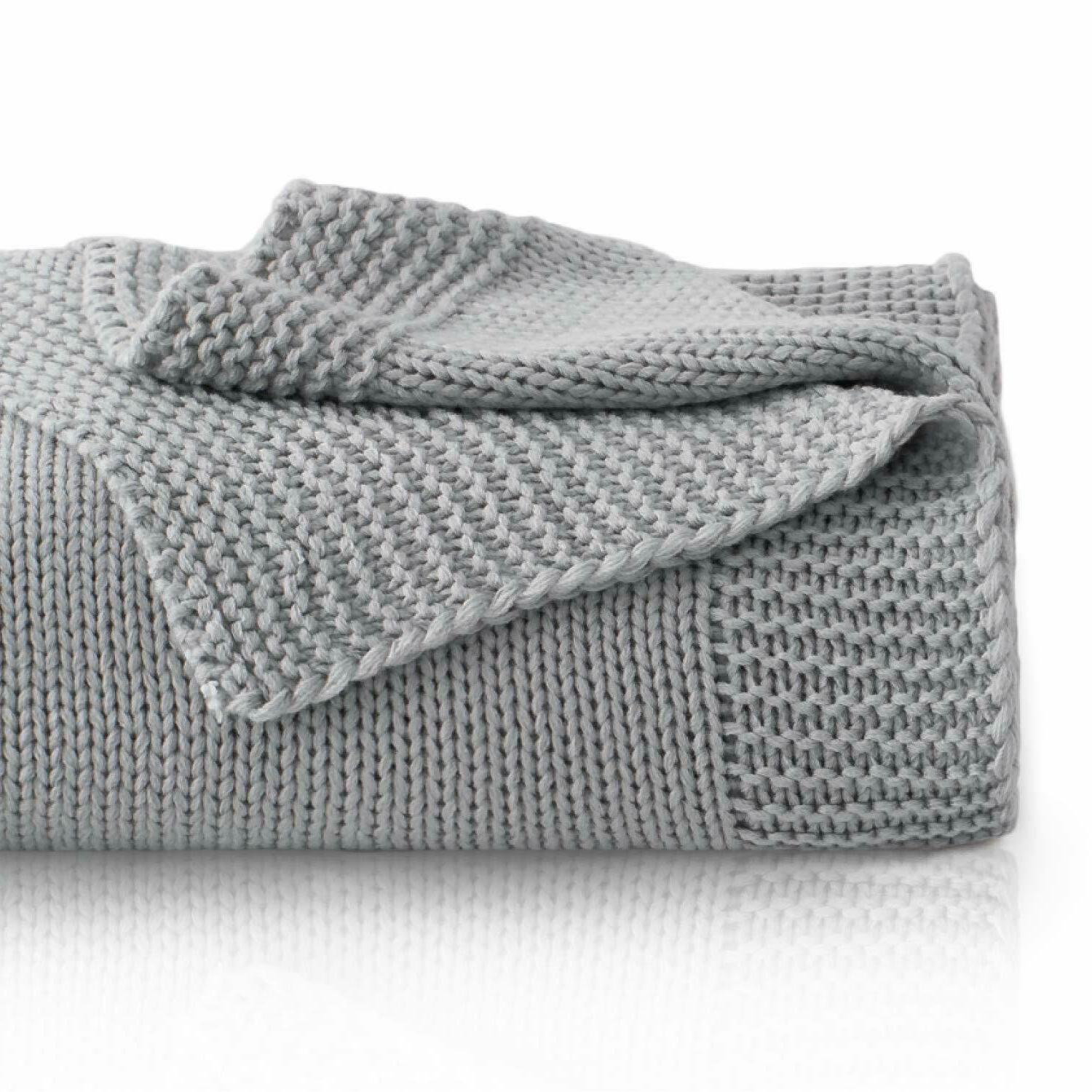 knitted throw blanket for sofa and couch