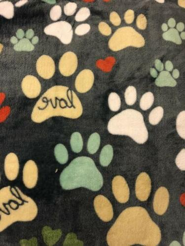 Kohl's The Big Supersoft Oversized Plush Throw Blanket Paw Print