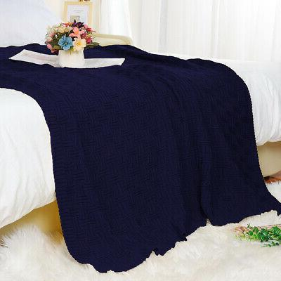 Large Soft Warm Cable Textured for Bed Washable