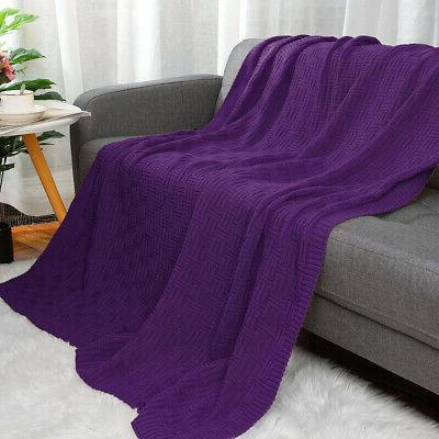 Large Soft Blanket Warm for Bed Sofa Washable