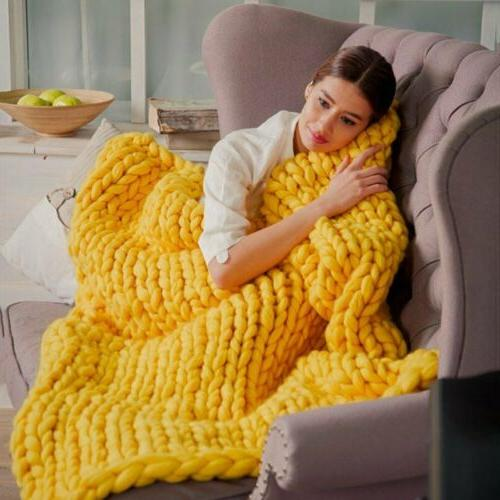 Large Soft Warm Chunky Blanket Line Yarn