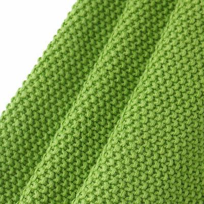 Large Soft 100% Cotton Knit Knit Bed Decorative