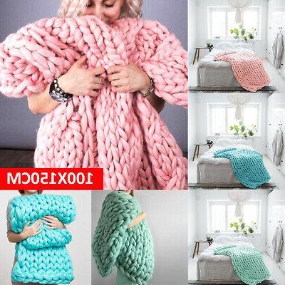 large warm sofa chunky handmade knit yarn
