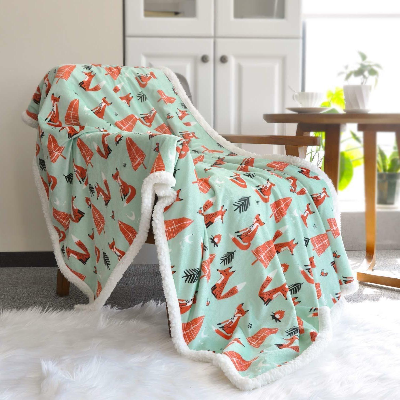 lavish home fleece sherpa super soft blanket