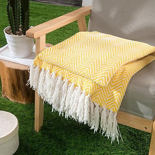 lightweight soft herringbone throw blanket