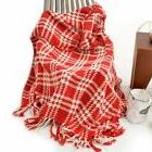 Battilo Lively &Cheerful Plaid Throw Blanket