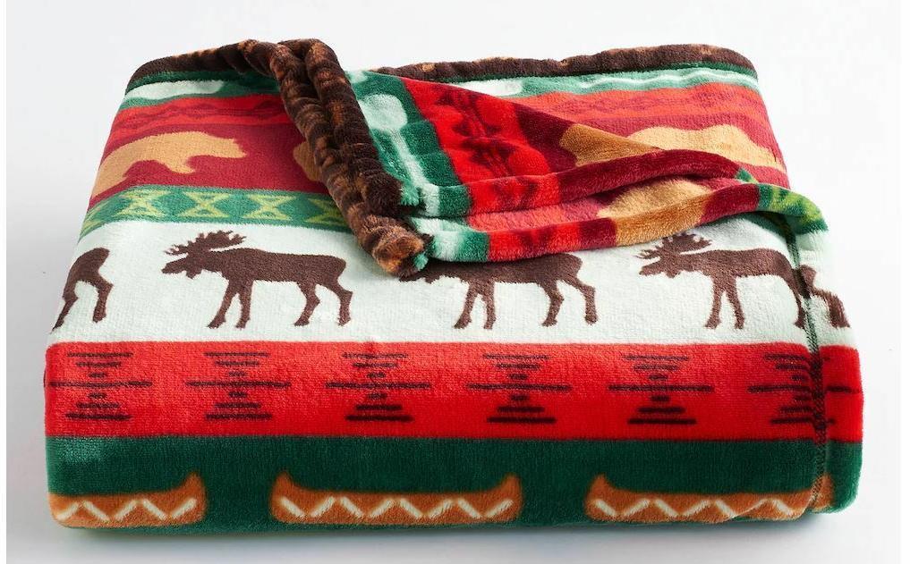 lodge plush throw cabin blanket