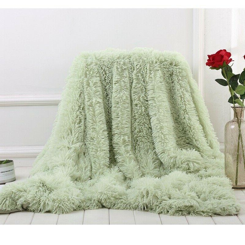 Long Fur Fluffy Blanket/Throw Plush Fuzzy Blanket