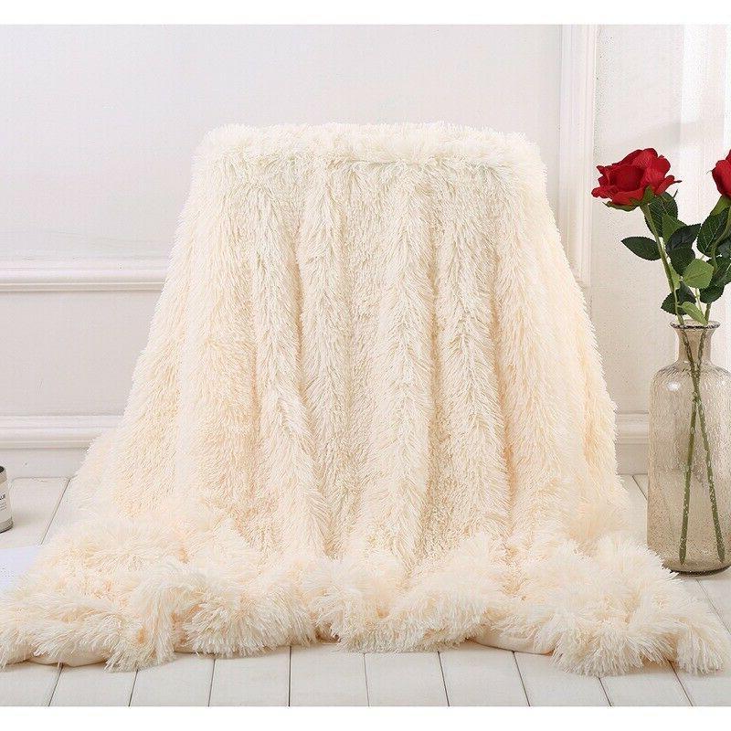 Fur Blanket/Throw Fuzzy Decorative Blanket