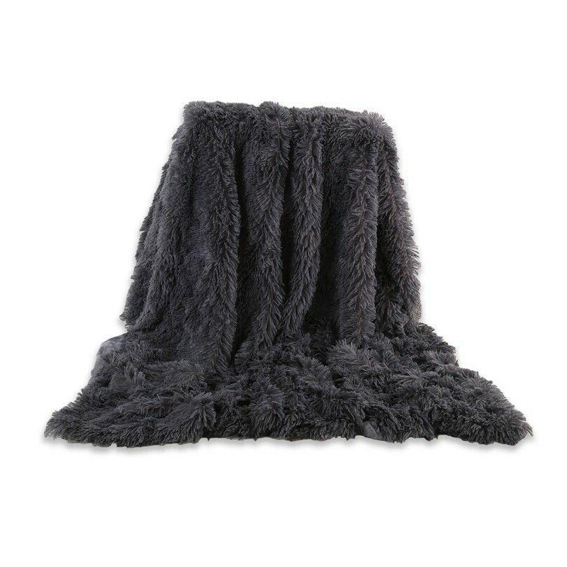 Long Shaggy Fur Fluffy Blanket/Throw Fuzzy