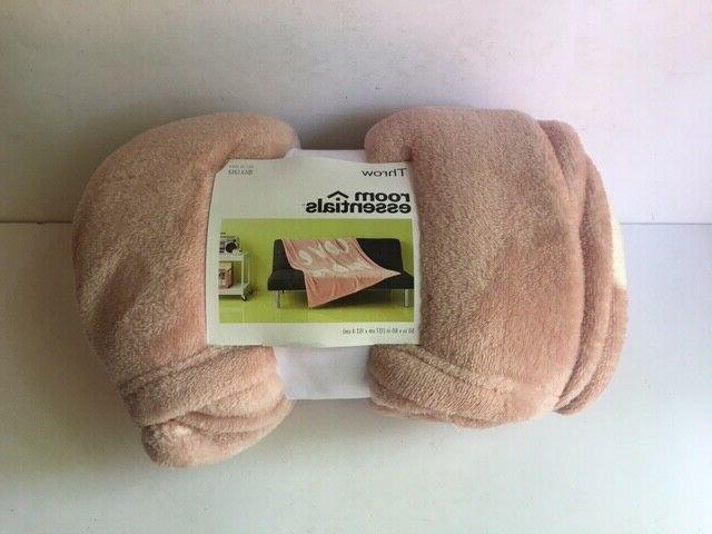Room Essentials Plush Cozy Blanket Peach x