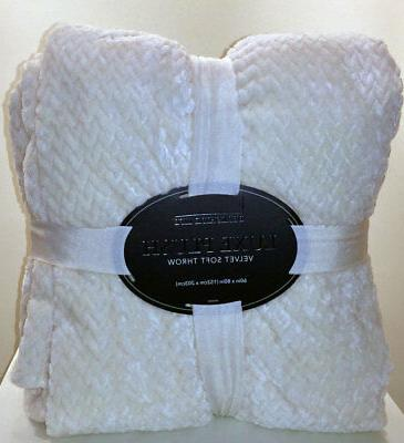 luxe plush white velvet soft