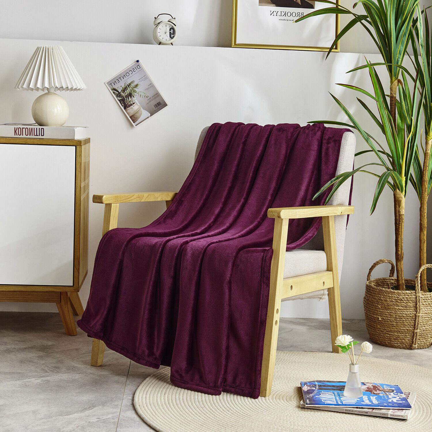 "Luxurious Blanket 50"" Burgundy"