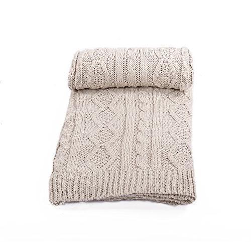 "Sofa/Chair/Bed Throw Blanket, 50"" W X Light"