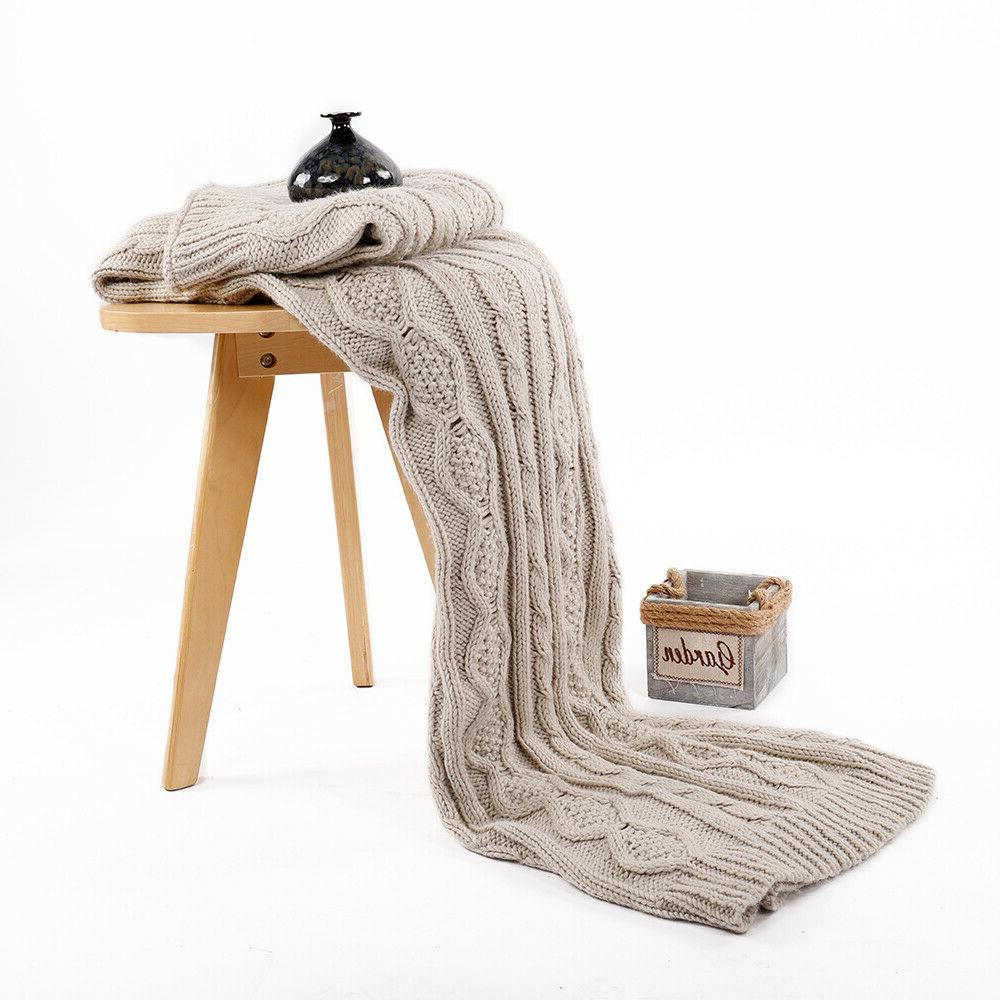 luxury cable knit sofa chair