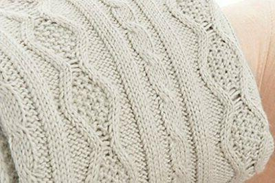 luxury cable knit throw blanket
