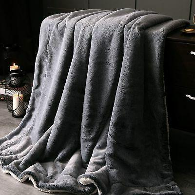 "Exclusivo Luxury Faux Fur Oversized 60""x70"" Super New"