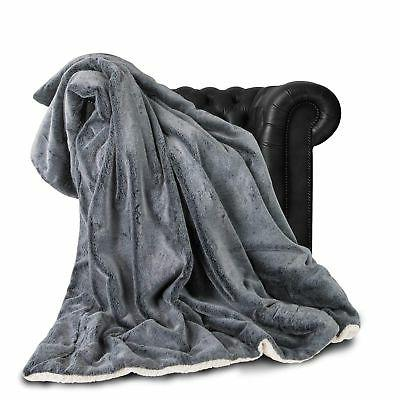 "Exclusivo Luxury Faux Fur Throw 60""x70"" Super New"