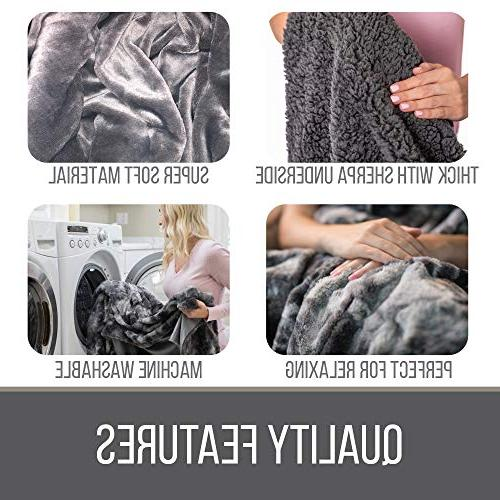 The Original Faux Throw Blanket, Large Plush Warm Couch/Bed