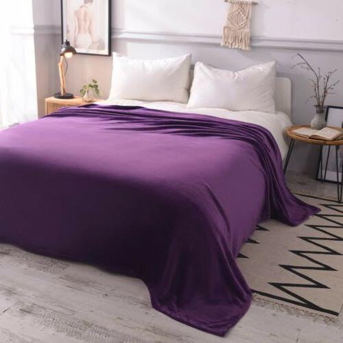 VEEYOO Microfiber Blanket Throw Bed