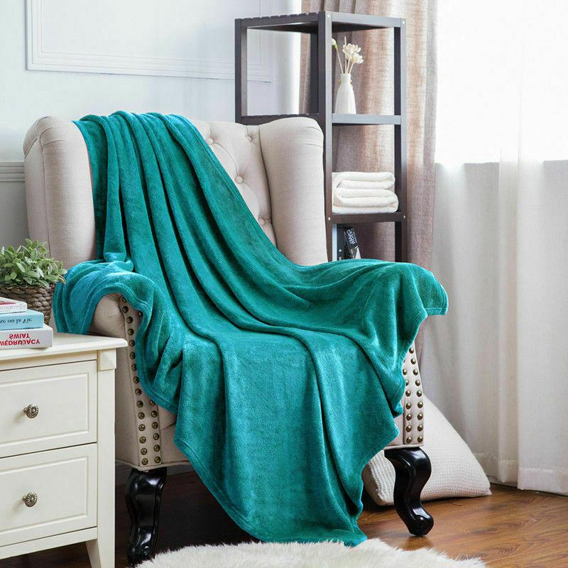 Bedsure Luxury Flannel Fleece Blanket Plush Blanket Bed Blanket Microfiber