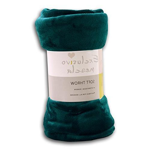 "Exclusivo Mezcla Luxury Flannel Velvet Plush Blanket – 50"""