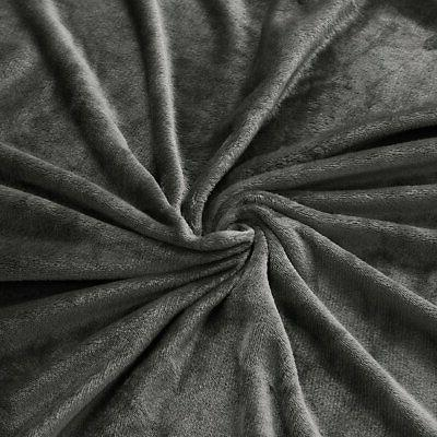 "Exclusivo Mezcla Luxury Flannel Velvet Plush Throw – 50"" Grey"