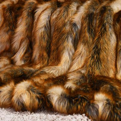 Luxury Plush Faux Fur Throw Blanket Soft Warm Fluffy Couch H