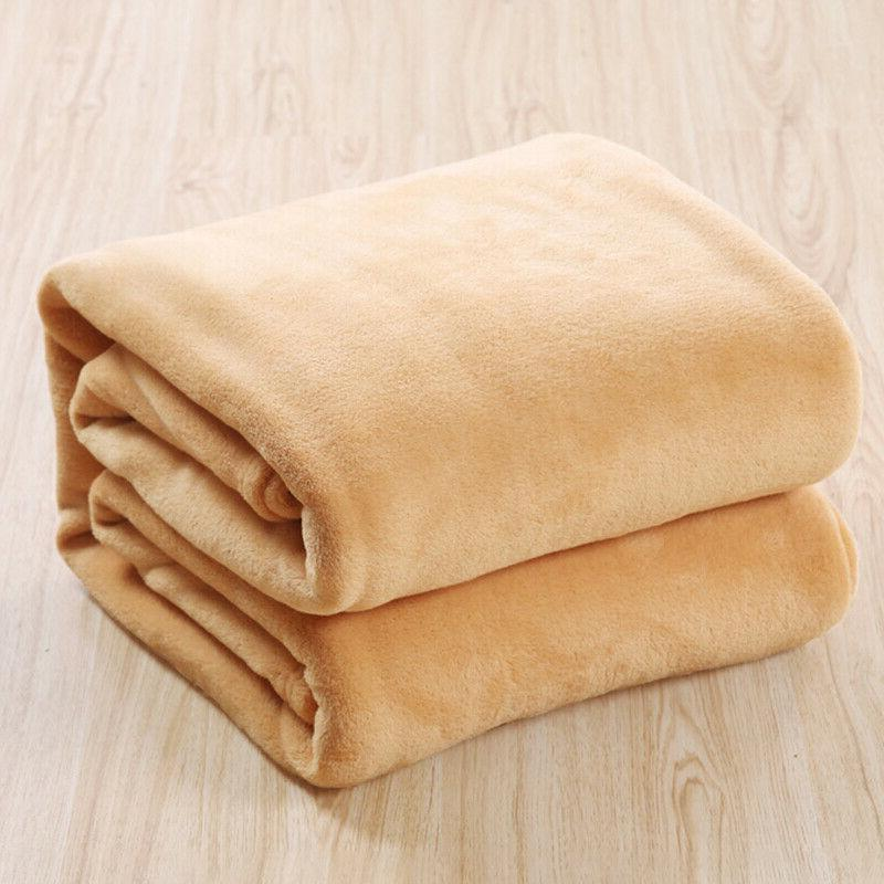 Luxury Plush Warm Throw Sherpa Velvet Blanket Bed US
