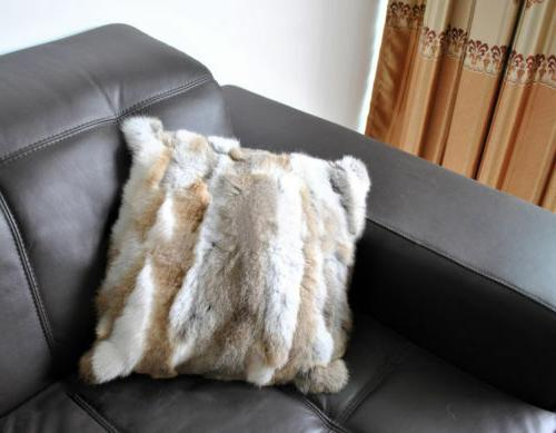 Luxury Rabbit 100% Fur Soft Blanket Pelt