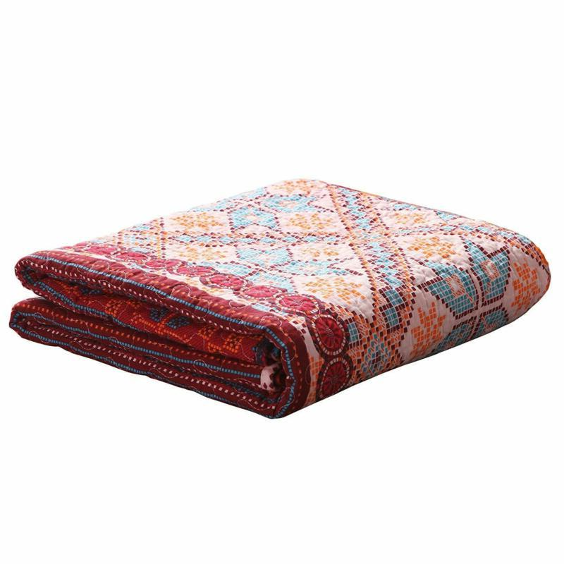Exotic Stripe Quilted Throw 50