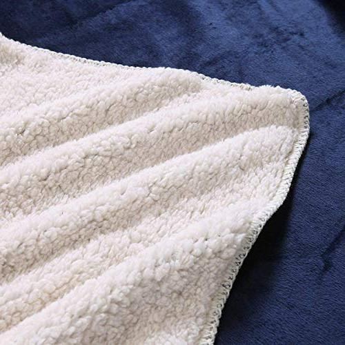 "Exclusivo 70"" Sherpa Throw Warm, Soft and Cozy"