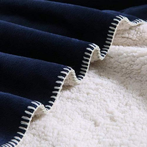 "Exclusivo 50"" 70"" Sherpa Throw Blanket -"