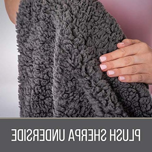 The Original Luxury Throw Blanket, Large Plush Reversible Warm & Hypoallergenic Couch/Bed Throws,