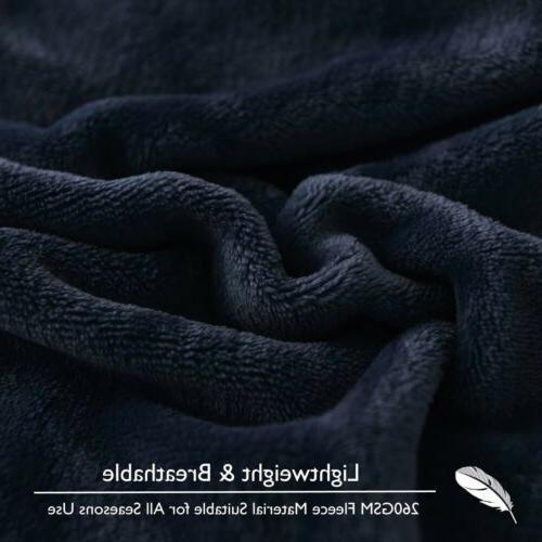 VEEYOO Microfiber Flannel Blanket Plush Soft Throw Bed Sofa