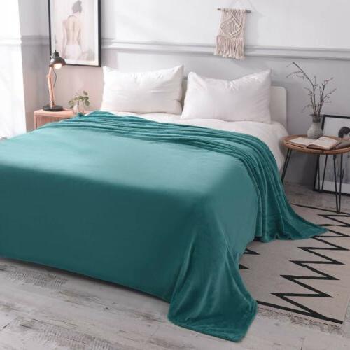 Luxury Polar Fleece Throw Blanket Sofa