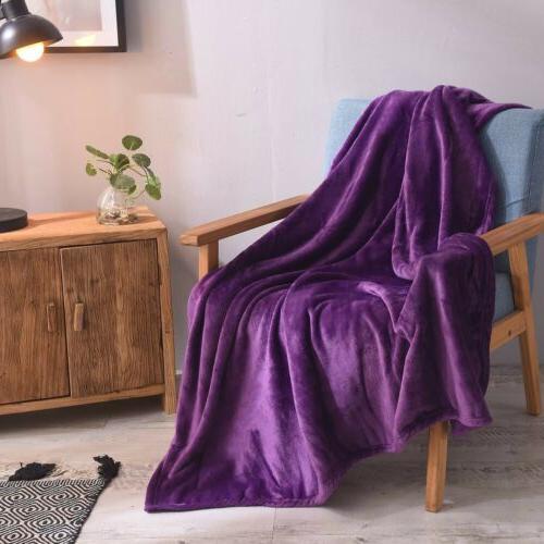 VEEYOO Microfiber Flannel Fleece Blanket Bed Couch Sofa