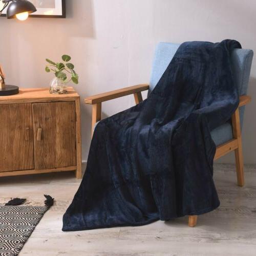VEEYOO Microfiber Blanket Plush Throw Bed Couch Sofa