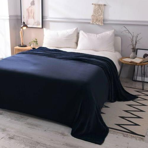 VEEYOO Microfiber Fleece Blanket Plush Soft Bed Sofa Blanket