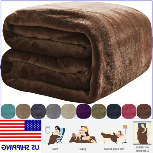 luxury warm soft large polar fleece throw