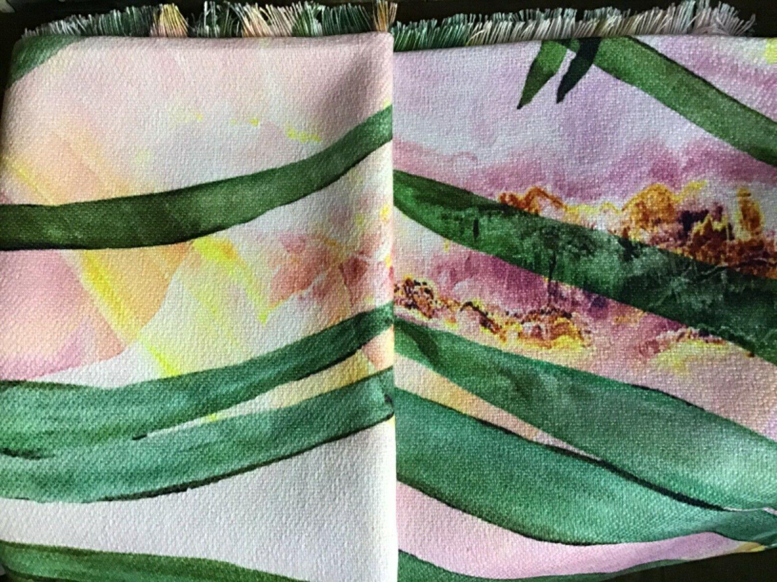 Marta Barragan Camarasa Palm Leaf Woven Throw Pink - Deny