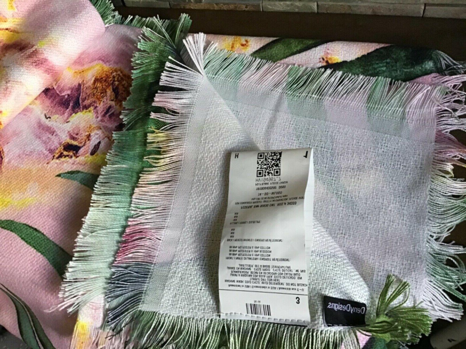 Marta Camarasa Palm Leaf Throw Blanket Pink - Deny