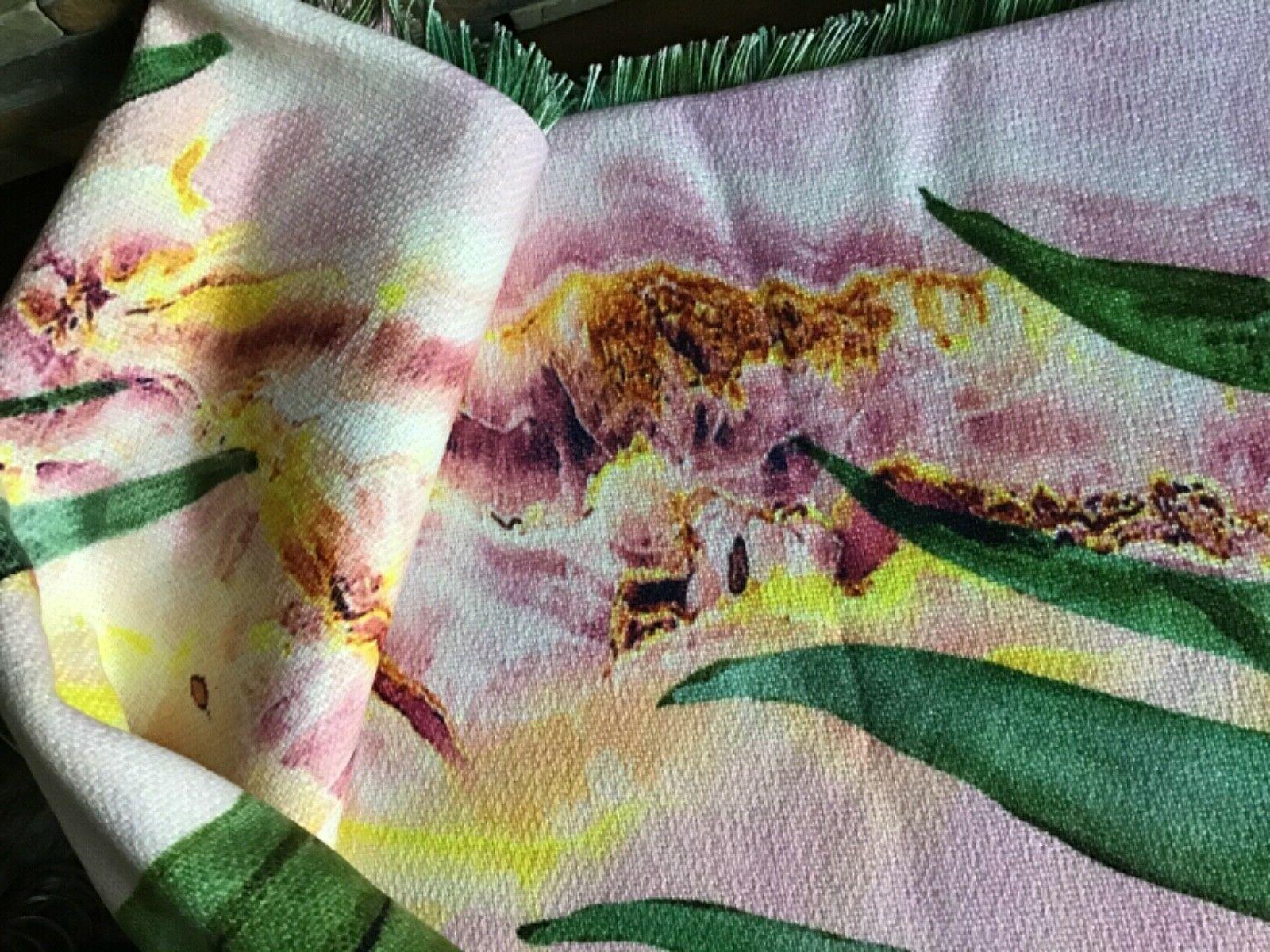 Marta Leaf Woven Throw Pink - Deny Designs