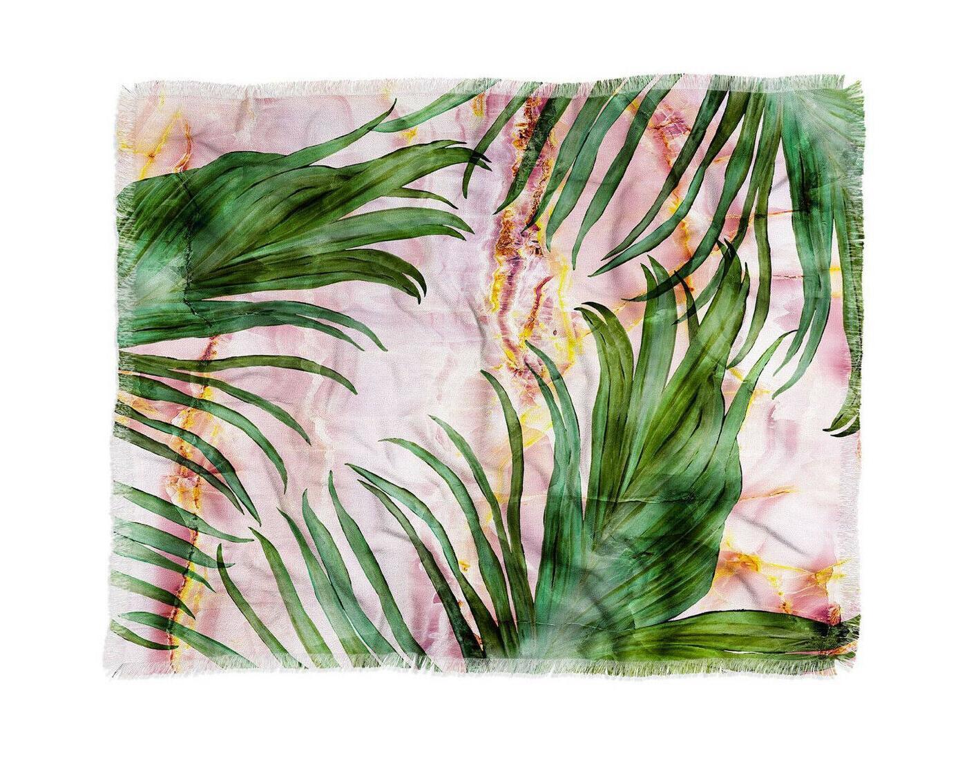 marta barragan camarasa palm leaf woven throw