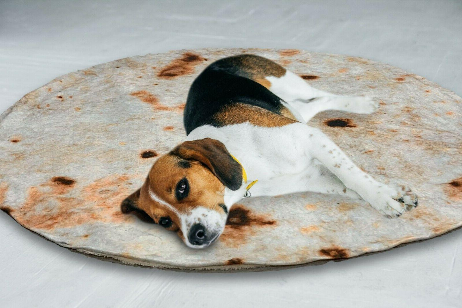 Mexican Throw Burrito 3D Blanket